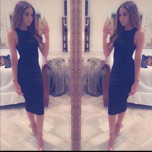 H&M Black midi dress